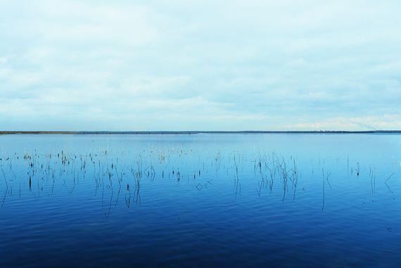 Ansicht der schwimmenden PV-Anlage vom Standort Teichland, Foto: LEAG