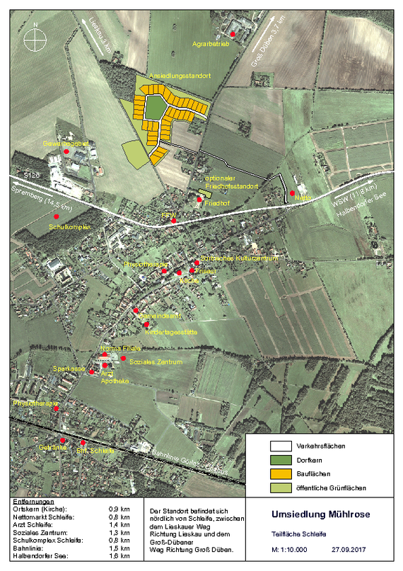 Städtebauliche Einordnung Teilfläche Schleife