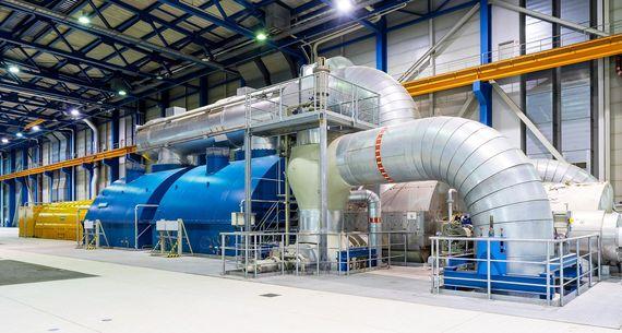 Maschinenhaus des Kraftwerks Schwarze Pumpe