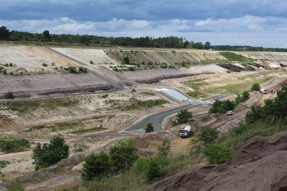 Einlaufbauwerk Ostsee: Einlaufgerinne mit Tosbecken