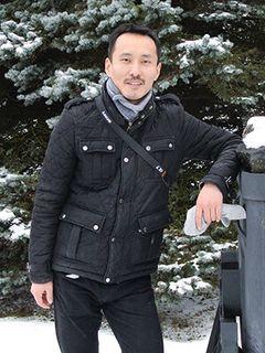 Diplomand Ankhbayar Majaa, Student der Markscheiderei und angewandten Geodäsie