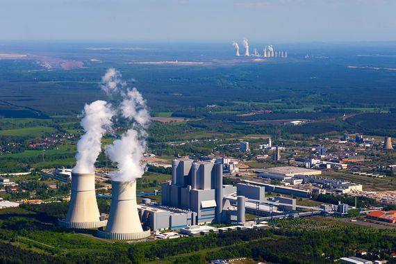 LEAG Kraftwerk Schwarze Pumpe aus der Luft