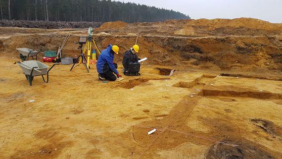 Jungbronzezeitliche Siedlung im Tagebau Nochten, Foto: LEAG