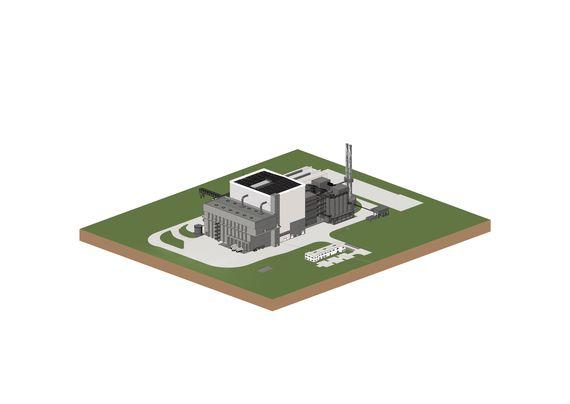 Modell der Energie- und Verwertungsanlage Jänschwalde, Foto: LEAG
