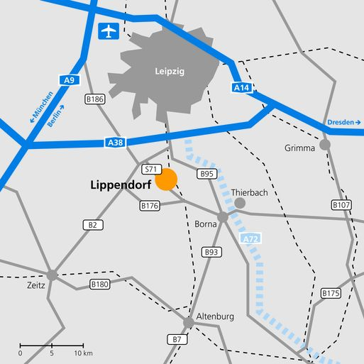 Anfahrtskizze Lippendorf