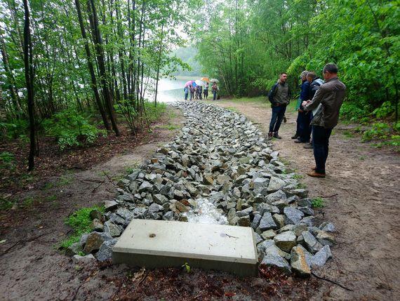 Wassereinleitung in den Großsee, Foto: LEAG