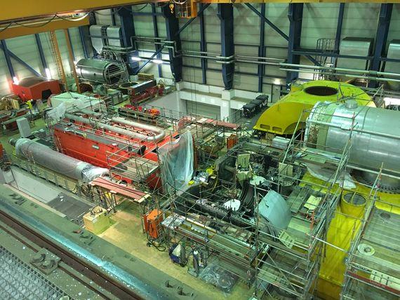 Revision im Kraftwerk Boxberg, Block Q, Blick in die Maschinenhalle, Foto: LEAG