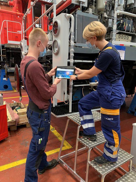 Um Arbeitsplätze in der Lausitz zu sichern, haben die Deutsche Bahn und die LEAG heute den Grundstein für eine weitreichende Kooperation gelegt, Foto: LEAG