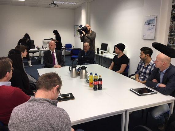 Pressegespräch: Stiftung Lausitzer Braunkohle unterstützt Spremberger Verein Jugend und Soziales e.V., Foto: LEAG