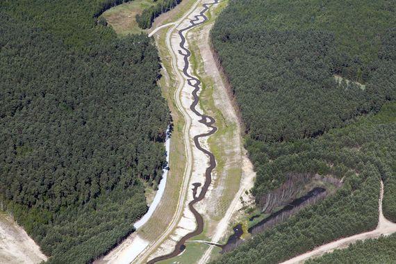 Luftbild des Flußlaufes