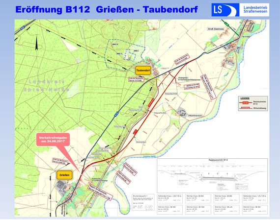 Umverlegung B 112 Grießen - Taubendorf