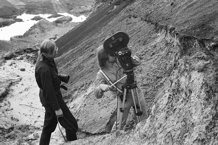 Für die Bebilderung eines Gundermann-Songs filmte Andreas Höfer 1988 im Tagebau Spreetal.
